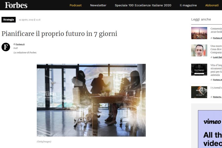 Forbes.it – Planifica tu futuro en 7 días