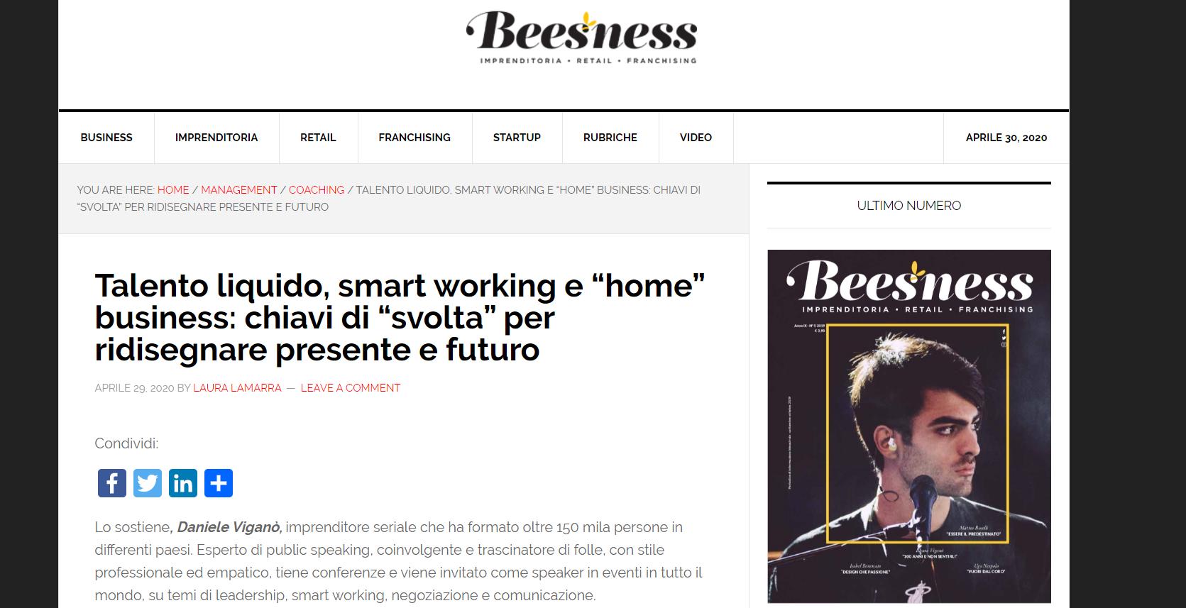 Talento liquido e smart working per ridisegnare il fututo – Beesness.it
