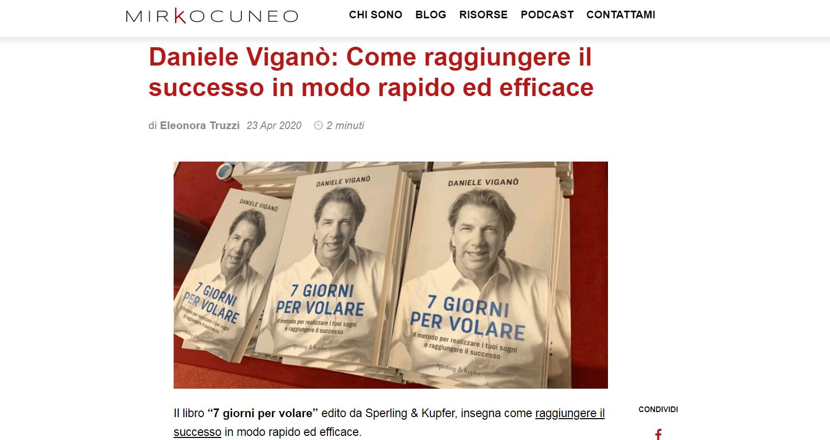 Come raggiungere il successo in modo rapido ed efficace – Intervista Mirco Cuneo
